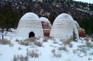 Charcoal kilns on Canyon Creek, Montana