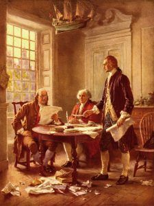 Writing the Declaration of Independence, by Jean Ferris.
