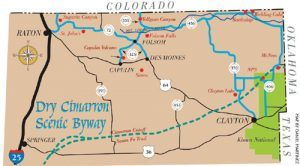 The Dry Cimarron Scenic Byway New Mexico and Oklahoma