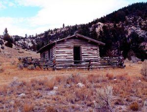 Old school house in Farlin, Montana