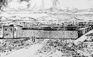 Fort Bonneville, Wyoming drawing