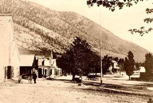 Gold coins are said to be hidden in the hills of Genoa, Nevada, photo 1890.