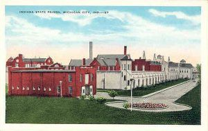 Postcard of Indiana State Prison about 1927.