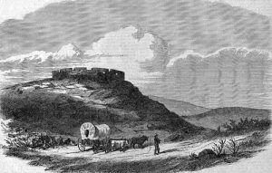 Lane's Fort on Mount Oread, Near Lawrence, Kansas Territory.