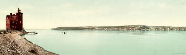 Mackinac Island from Round Island, Michigan by Detroit Publishing, 1899