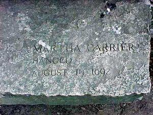 Martha Carrier Cenotaph at the Salem Memorial
