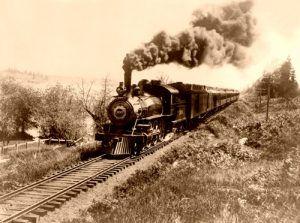 Northern Pacific Railroad train