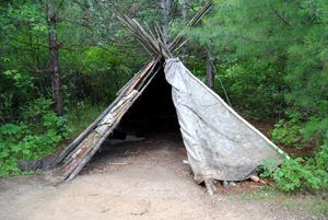 North West Co. Trading Post, MN - Ojibwe Living Quarters