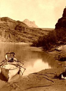 Powell Expedition Boat on the Colorado River, 1872