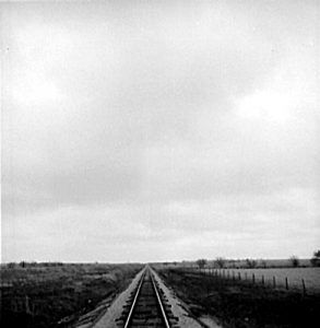 Railroad tracks across Kansas.