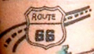 Route 66 Shield Tattoo