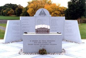 On May 9, 1992, the Salem Village Witchcraft  Victims' Memorial was dedicated in Danvers, Massachusetts.