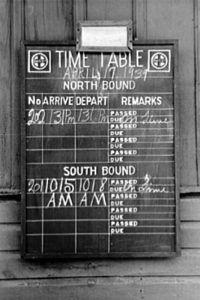 Santa Fe Timetable