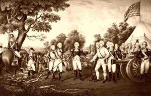 Surrender of General Burgoyne at Saratoga New York