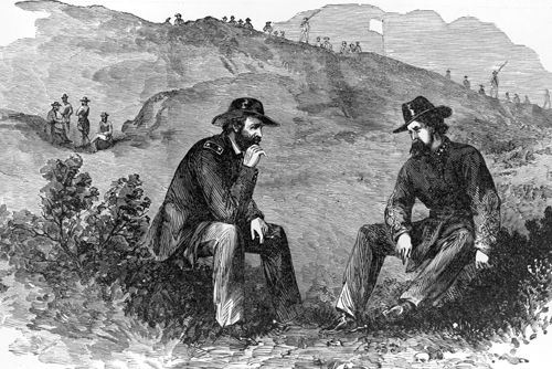 Negotiating surrender, Vicksburg, Mississippi