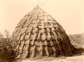 Wichita Grass Hut, 1927, by Edward S. Curtis