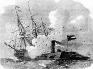 Confederate Ironclad Steamer, the Merrimac
