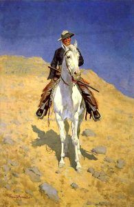 Frederic Remington self-portrait, 1890