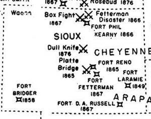Wyoming Indian Wars Map