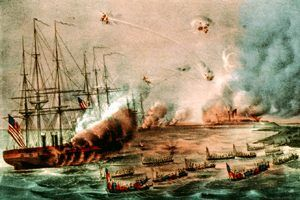 Bombardment and capture of Fort Hatteras, North Carolina