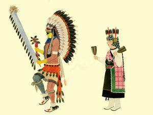 Comanche Dance byAwa Tsireh, 1925