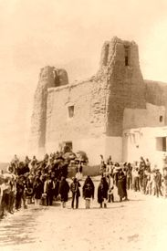 Feast Day at Estevan del Rey Mission, Acoma Pueblo, New Mexico by Charles F. Lummis, 1890