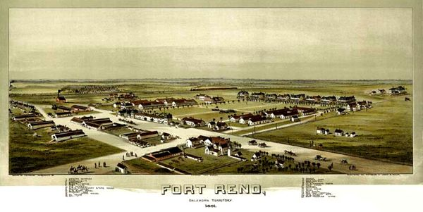 Fort Reno Panographic, 1891