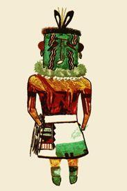 Hehea Hopi Kachina drawn by native artists 1904
