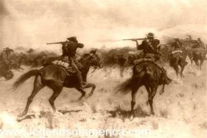 Indian fighters, by Frederic Remington 1907,.