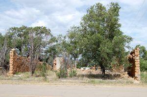 Building ruins in Kenton, Oklahoma