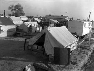 Kern migrant camp, California, Dorothea Lange, 1936