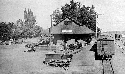 Laws old railroad station continues to stand as part of the museum today. Courtesy Owens Valley History
