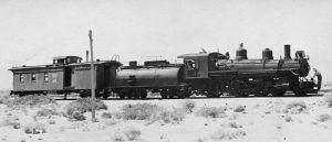 Narrow Guage Railroad called the Slim Princess passed through Laws