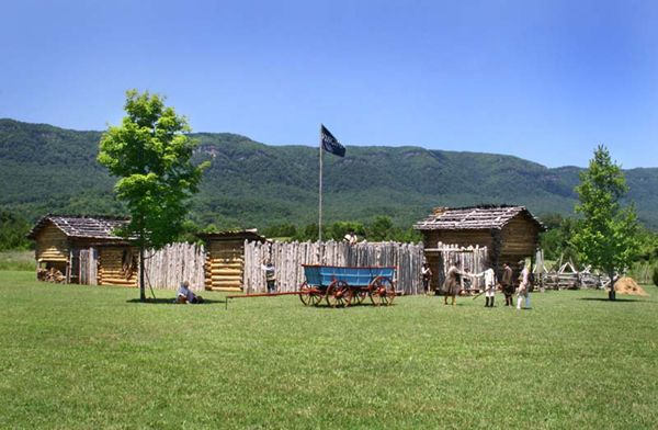 Martin's Station has been reconstructed today. Photo courtesy Historic Martin's Station.
