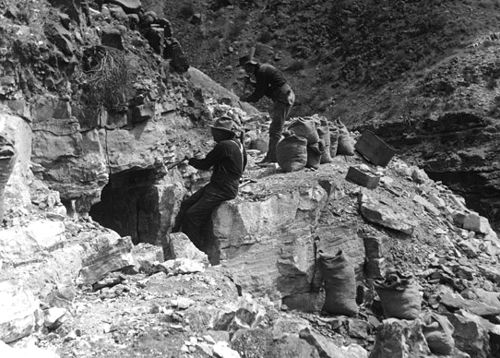 Miners at the Grand Canyon