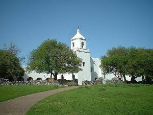 Mission La Bahia near Goliad, Texas courtesy Wikipedia