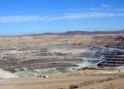 Rio Tinto open pit Borax Mine in Boron, California