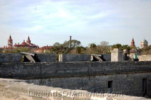 View of St Augustine from Castillo De San Marcos