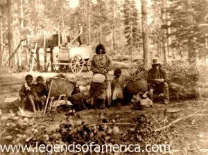 Washoe Indians, Lake Tahoe, 1866
