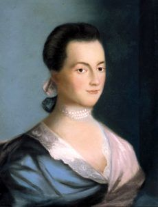 Abigale Adams, wife of President John Adams, the 2nd president of the U.S.