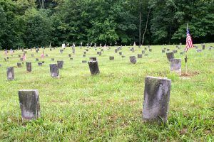 Athens Asylum cemetery courtesy Encyclopedia of Forlorn Places