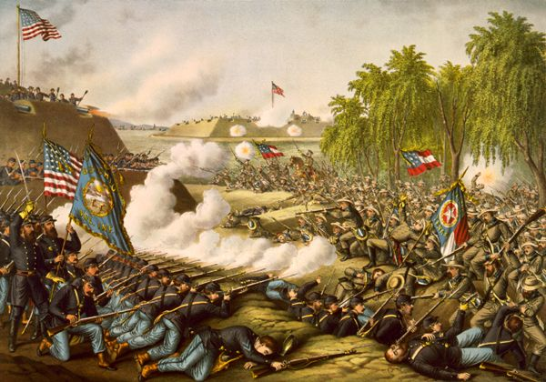 Battle of Corinth by Currier & Ives.