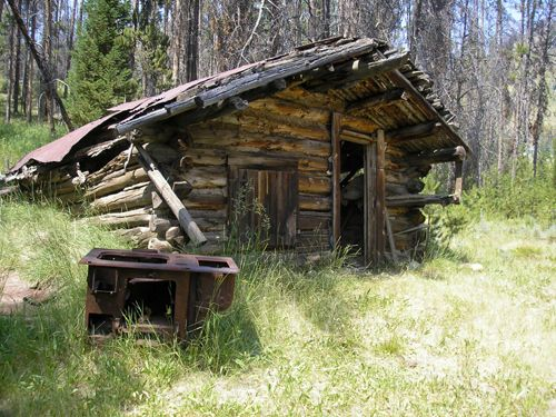 The old iron stoves always seem to sit outside these old miner's cabins, Kathy Weiser-Alexander, July 2008.