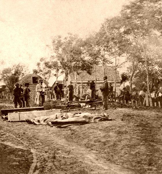 Burial of Union dead at Fredericksburg, Virginia