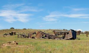 Obviously, the town wasn't prosperous as it appears that several residents lived in old boxcars.