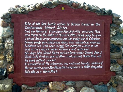 The site of the old military post and battlegrounds are a New Mexico State Park today, by Kathy Weiser-Alexander.