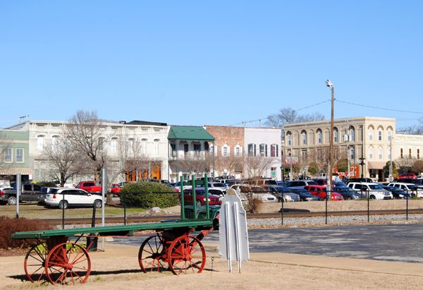 Corinth downtown area from the Depot