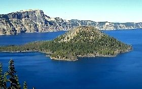 Crater Lake, photograph by D. Wieprecht