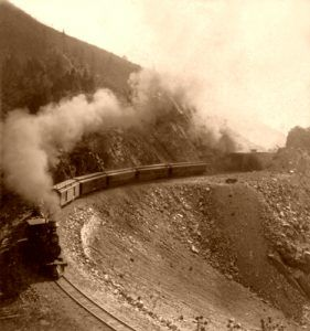 Denver and Rio Grande Railroad in Colorado, 1898.