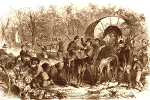 Foraging party during the Civil War